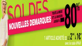 Soldes La Redoute été 2012 : un produit acheté, le 2nd à 1 euro, doublez votre plaisir pour presque rien